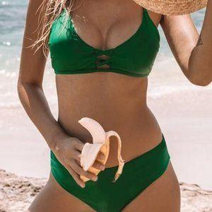 Green Two Piece Bikini Set Sz L